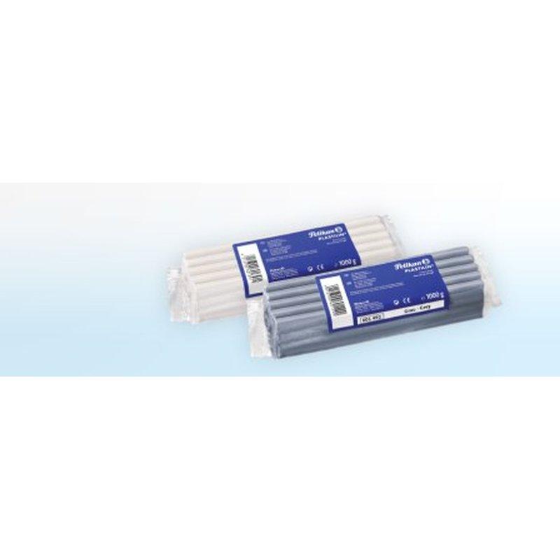 1 kg grau Pelikan Plastilin Qualitäts-Knetmasse