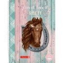 Brunnen Collegeblock Ponylove, A4, 2 Lineaturen