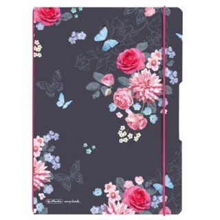 Herlitz Notizheft flex LADYLIKE FLOWERS; A5, kariert