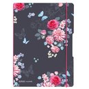 Herlitz Notizheft flex LADYLIKE FLOWERS, A6, kariert
